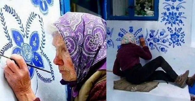 Страхотно!-90-годишна-художничка-превърнала-цяло-село-в-произведение-на-изкуството