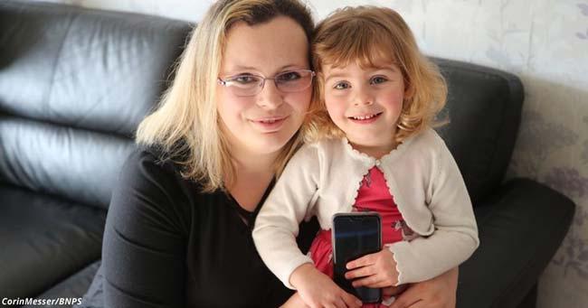 2-годишно момиченце спасило майка си от смърт с помощта на фейсбук