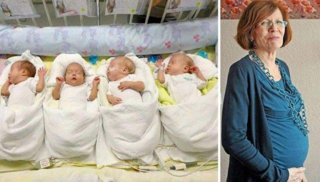 Преди 3 години 65-годишна жена родила четиризнаци. Как живеят днес